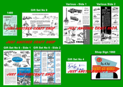 Corgi Toys Rocket Age Gift Set Set of Instruction Leaflets /& Poster Shop Sign