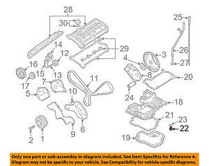 details about audi oem 04 09 s4 engine parts drain plug 028103059a  2000 audi s4 parts diagram #5