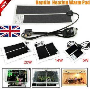 5-7-14-20W-Reptile-Vivarium-Heat-Mat-Warm-Heater-Pad-with-Thermostat-Controller