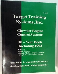 Chrysler Engine Control Systems 1983 to 1992 TTS Target Training Systems, Inc.