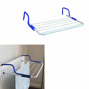 radiator clothes airer laundry hanging folding portable. Black Bedroom Furniture Sets. Home Design Ideas