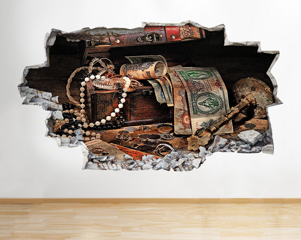 A065 nascosti tesoro dei pirati Ragazzi Adesivo adesivo da parete camera bambini