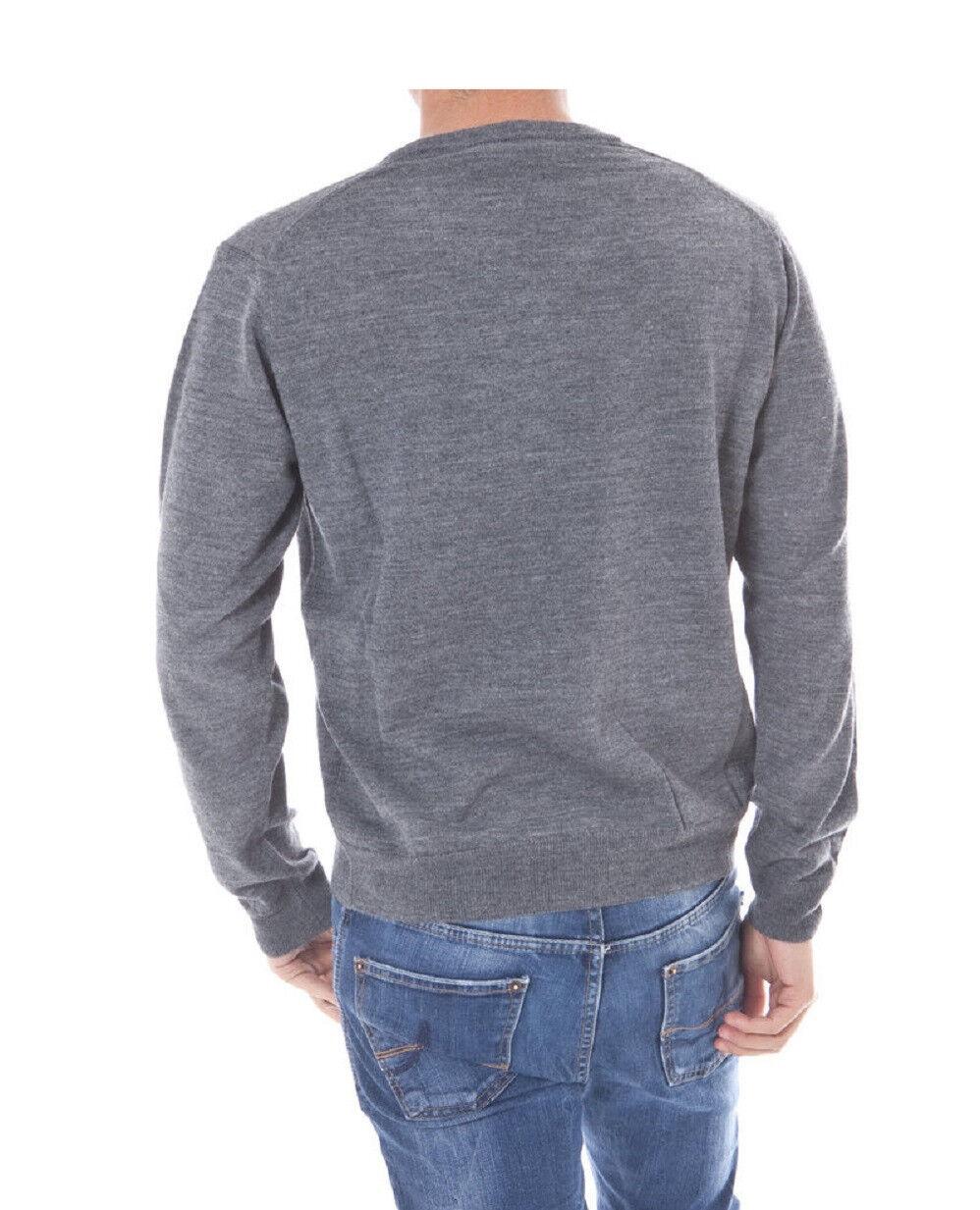 ROMEO GIGLI UOMO UOMO UOMO V-Neck Pullover grigio scuro taglia M L nuovo + fattura con IVA. f13c0f