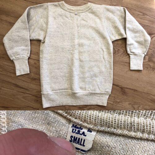 Antique Vtg 1940s NOS Single V Sweatshirt Gray W T