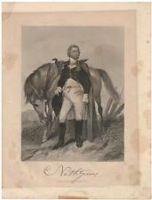 Nathanael Greene 1862 Steel Engraving Print Major General Continental Army