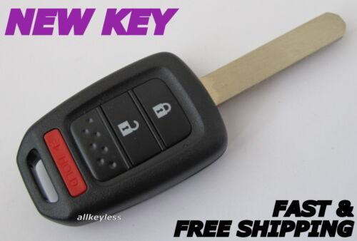 OEM HONDA keyless entry remote fob transmitter MLBHLIK6-1T NEW CASE w//UNCUT KEY