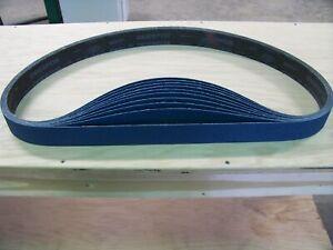"""PREMIUM  ZIRCONIA 10 PACK X-WEIGHT  SANDING  BELTS  2/"""" X 48/"""" 80-GRIT"""