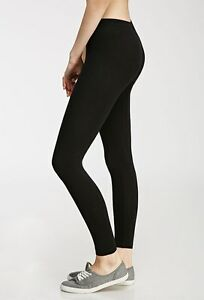30-OFF-AUTH-FOREVER-21-CLASSIC-COTTON-BLACK-LEGGINGS-LARGE-BNWT-SRP-US-6-90