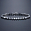 Bracciale-Tennis-Uomo-Donna-Acciaio-Inox-Argento-Cristalli-Bianco-Oro-Diamanti miniatura 13