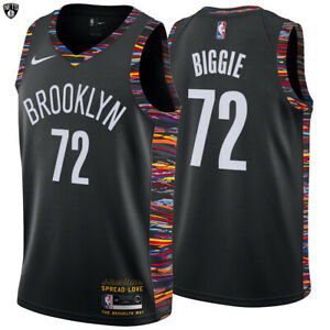 new concept 325dd f47b6 Details about Brooklyn Nets Nike Biggie Swingman Jersey Music Edition  Notorious B.I.G Limited