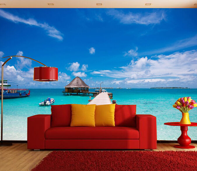 3D Sky beach scenery 0246 Wall Paper Wall Print Decal Wall Deco AJ WALLPAPER