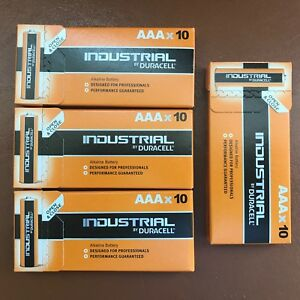 40 x Duracell AAA Industrial Procell Alkaline Batteries LR03 MN2400 Expiry 2024
