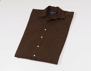 Ralph-Lauren-Men-039-s-Brown-long-sleeved-Casual-Shirt-Size-Large