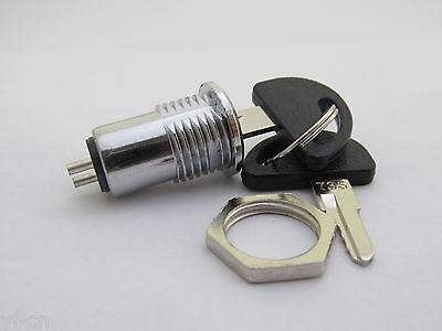 1pc 15.6x31mm High Quality #735 Key Switch ON//OFF Metal Lock Switch with 2 keys