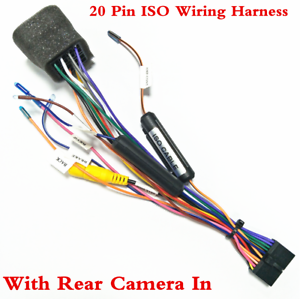 Car Auto Stereo 20PIN ISO Wiring Harness Connector Adapter With Camera  Wiring   eBayeBay