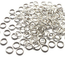 100 x Strong Bright Silver Plated 7mm Open Jump Rings Connector Link, 1mm thick