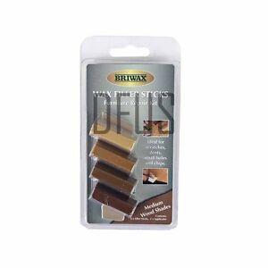 Briwax furniture repair kit wax filler sticks medium for Kit riparazione parquet
