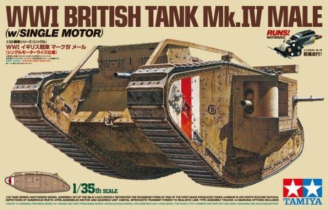 Tamiya 1/35 1ère GM Tank Britannique Mk IV Mâle avec / Simple Moteur #30057