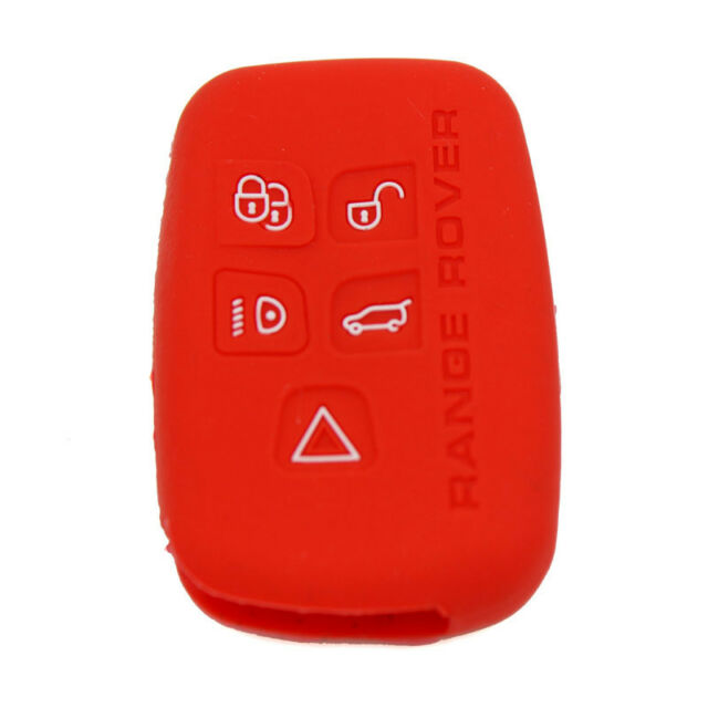 Red Silicone Case Cover For Land Range Rover Sport Evoque LR4 Smart Key 5 Button