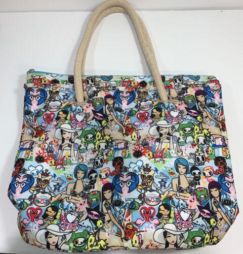 Tokidoki Beach Club Beach Bag Shopper Tote  Rare