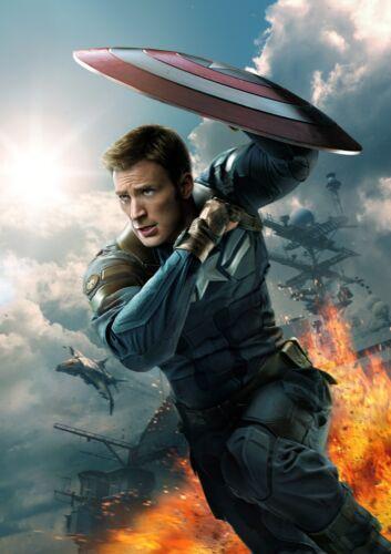 Captain America Poster Civil War 2016 Avengers Movie CHOOSE YOUR SIZE FREE P+P