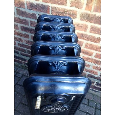 Antique Victorian Rare cast iron radiator 6 section on feet, height 44in