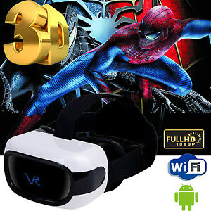 Cawono All in One 3D VR Headset Virtual Reality Glass Android Quad Core WIFI 8GB