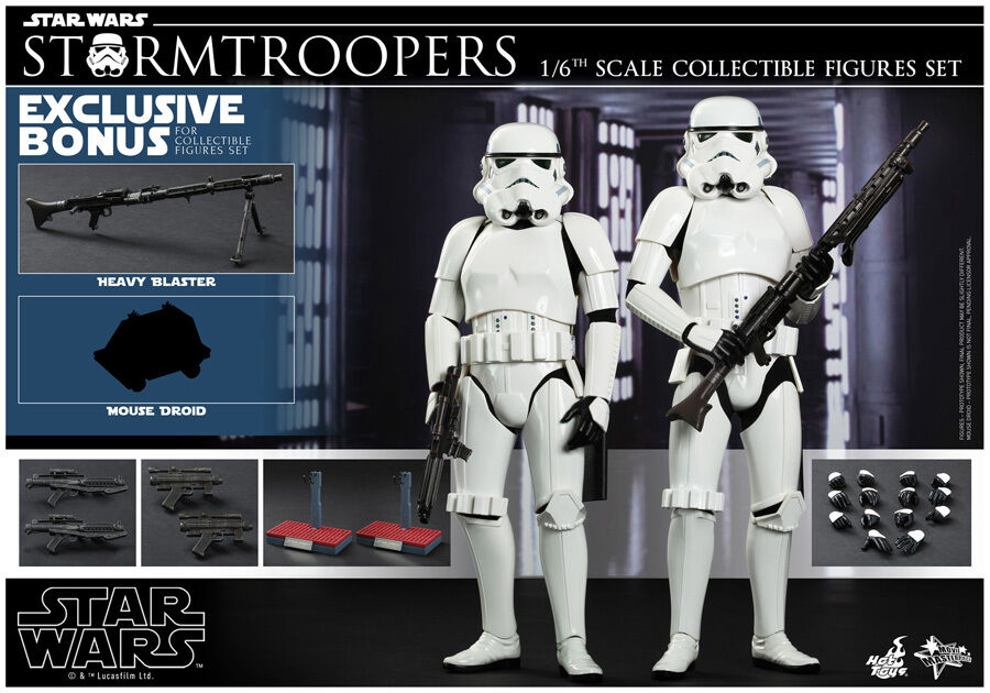 HOT TOYS 1/6 STAR WARS EPISODE IV A NEW HOPE MMS268 STORMTROOPER SET FIGURE