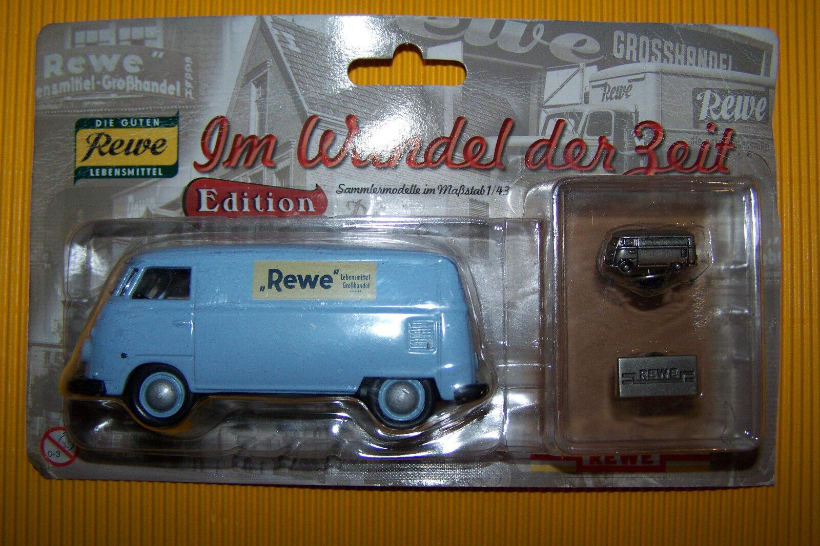 VW camionnette t1 1 43 Camionnette 1 220 Z REWE REWE REWE en mutation du temps NEUFS En parfait état, dans sa boîte fd74a2