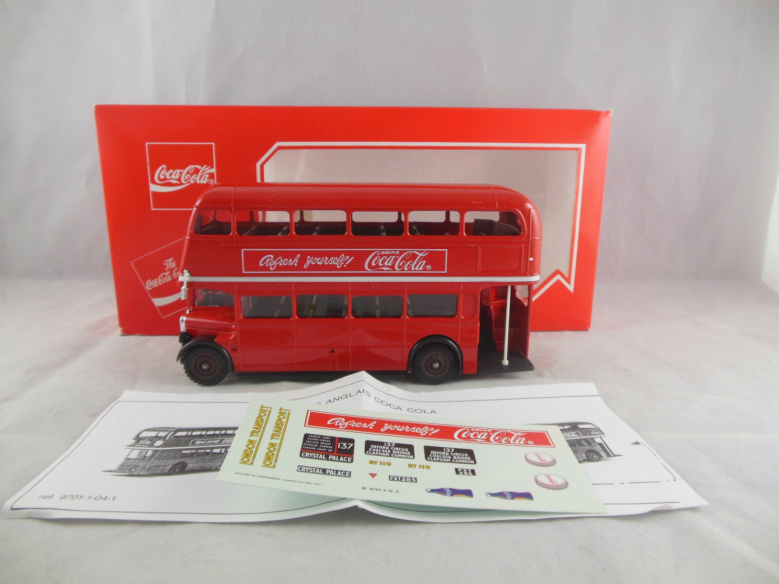 Solido AEC Routemaster Coca Cola Branded Item Scale 1 50 with transfer set