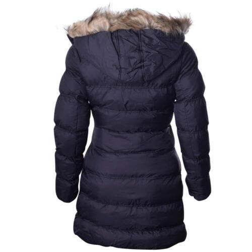 Women Brave Soul Hoplong Fur Hooded Padded Puffer Long Winter Ladies Jacket Coat