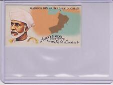 2008 ALLEN & GINTER WORLD LEADERS MINI CARD QABOOS BIN SAD AL-SAID ~ OMAN  #WL33