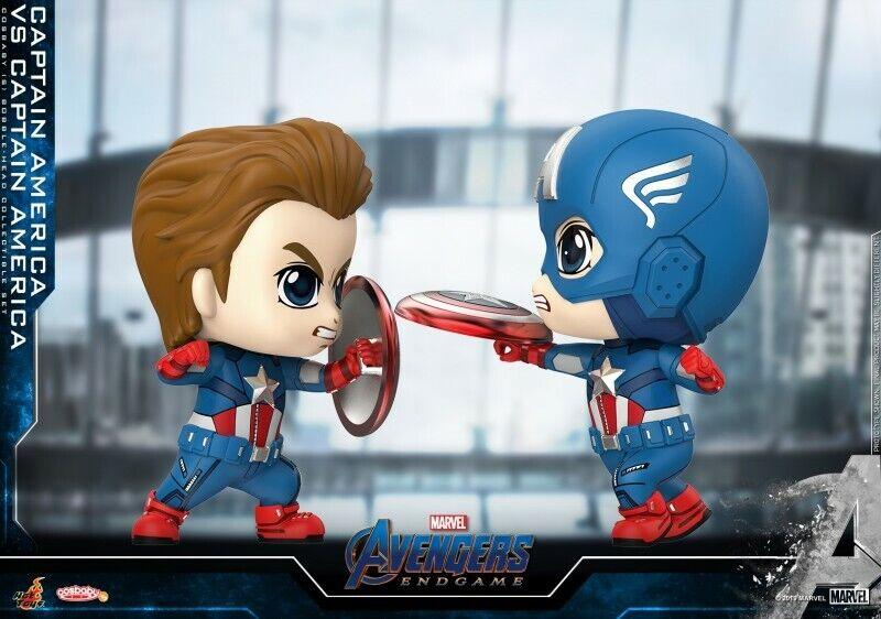 Hot Juguetes COSBABY Avengers EndJuego COSB658 Captain America vs Captain America Juguete