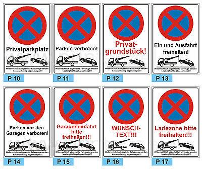 Schild Kein öffentlicher Parkplatz Parken verboten Hinweis 3 mm Alu-Verbund