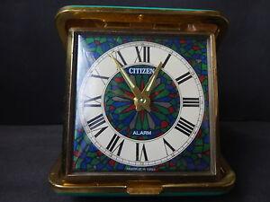 Antique CITTZEN Folding Hand-Rolled Mini Table Clock JAPAN