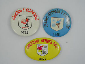 LOT OF 3 RARE 1977 / 78 / 79 JACKIE GLEASON PERSONAL INVERRARY MEMBERSHIP PIN