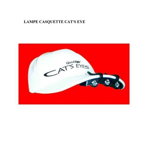 NASCHEM CAP LIGHT LAMPE TORCHE CASQUETTE CAT/'S EYES