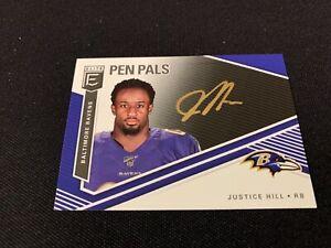 2019-Donruss-Elite-Justice-Hill-PEN-PALS-GOLD-INK-AUTO-card-no-PP-JH