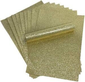 GOLD Glitter Carta A4 luccicante morbido praticamente non capannone 250gsm 10 FOGLI