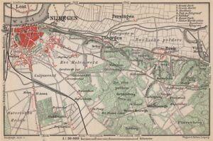 Lovely Nijmegen Environs Baedeker 1897 Map Discounts Sale Beek Ubbergen Lent Netherlands Kaart