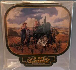 John Deere green Tractor Coaster Set of 4 model B farmer