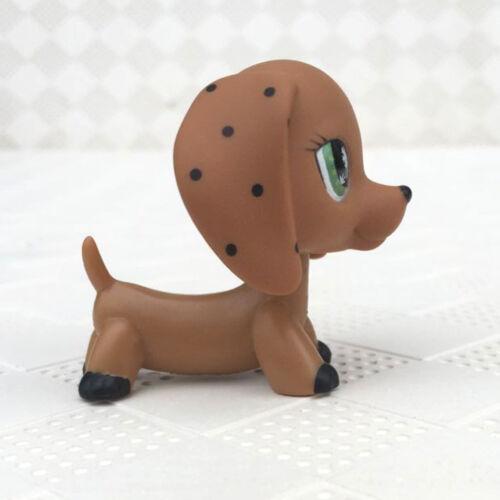 Littlest Pet Shop Rare LPS Dog Brown Dachshund Puppy Animal Figure Toy No Magnet