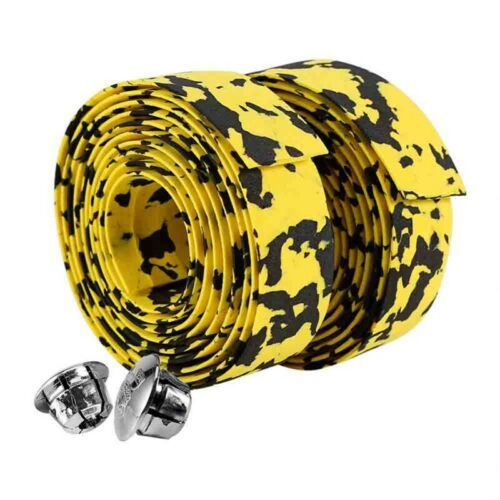 Handlebar Tape Rubber Grips Cycling Road Bicycle Bike Wrap Tapes /& Plugs Great