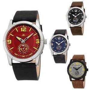 Men-039-s-Joshua-amp-Sons-JX135-Quartz-Sports-60-Second-Sub-Dial-Leather-Strap-Watch