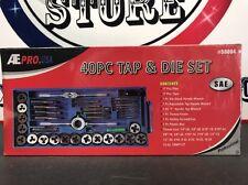 "Tap Die Set SAE 40pc Cut Renew Thread 1/4""-20 to 12-24 1/8 inch NPT-27 Standard"