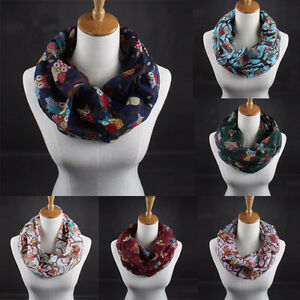 Fashion-Womens-Ladies-Owl-Print-Warm-Collar-Scarf-Wrap-Shawl-Bib-Solid-Scarves