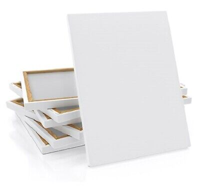 2 pcs Round Artist Stretched Canvas with Gesso 30cm