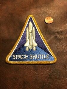 Vintage-Authentic-NASA-Space-Shuttle-Program-Triangle-Sew-On-Patch