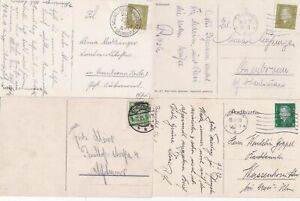 4 1930s GERMAN   POST CARDS   . REF R724