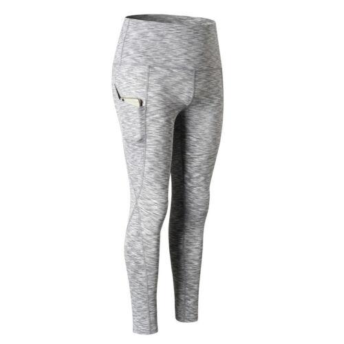 Women/'s Compression Pants Yoga Running Training Leggings with Pocket High Waist